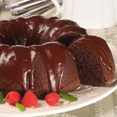 шоколадный кекс в глазури