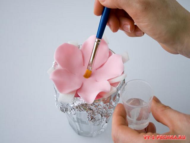 цветок из мастики пошаговый фото мастер класс