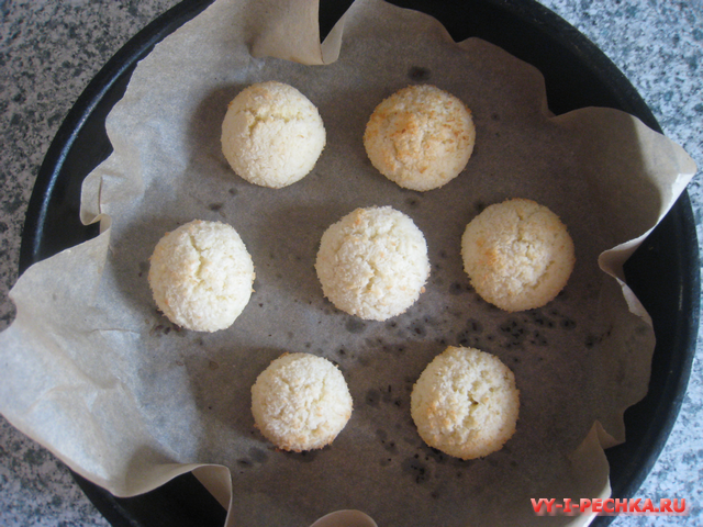 Простое печенье с кокосовой стружкой (фото рецепт)