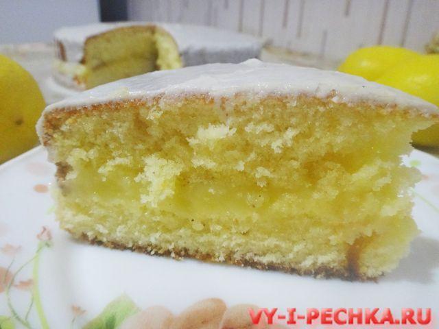 рецепт торта лимонного