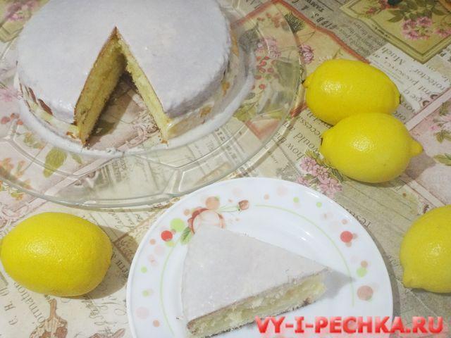 фото рецепт лимонного торта