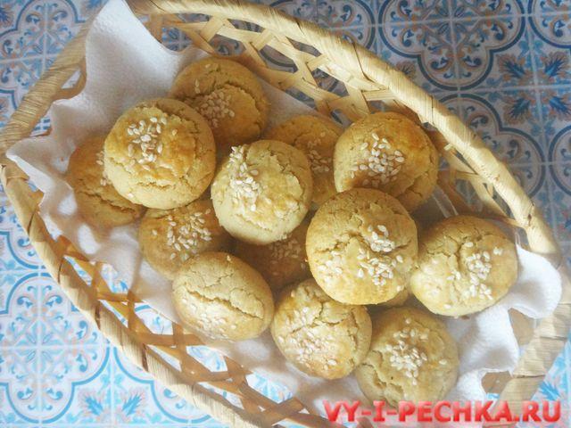 турецкое печенье с тахиной