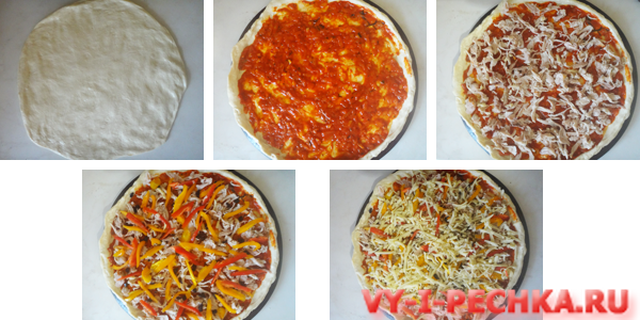 готовим пиццу с курицей