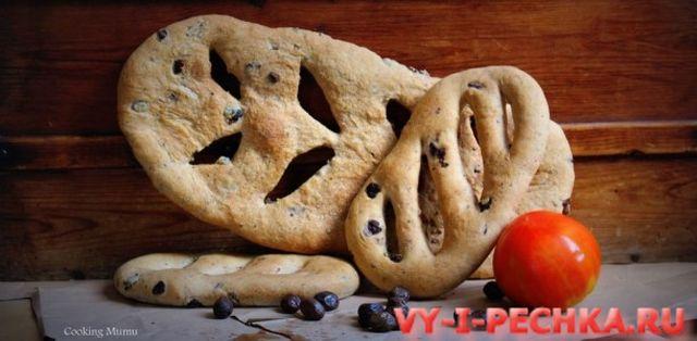 хлеб фугас с оливками рецепт