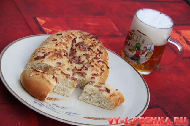 хлеб фугас с беконом