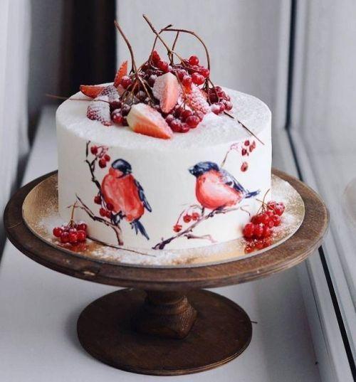 новогодний торт с снегерями