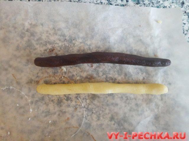 шокладно-ванильное печенье