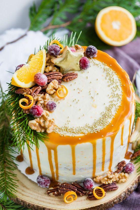 апельсиновый торт к Новому году