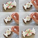 Украшение новогоднего печенья на елку.