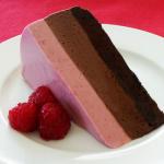Шоколадный торт сердце на день Святого Валентина