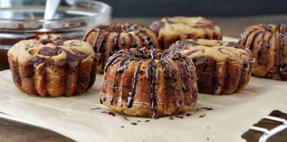 шоколадные кекс с бананом
