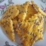 Соленое сырное печенье с семечками и паприкой (фото рецепт)