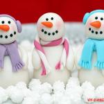 Съедобный снеговик из мастики (фото мастер-класс)