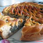 Ржано-пшеничный грибной пирог