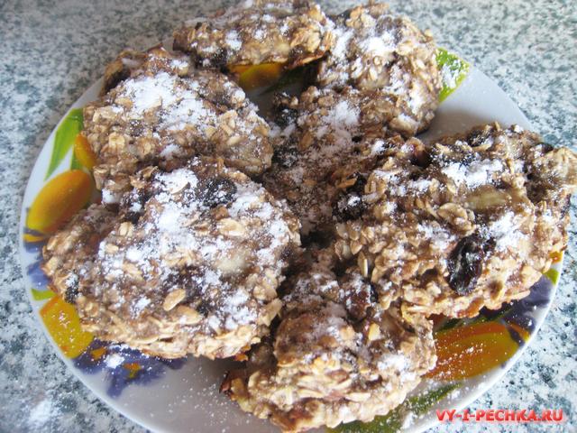 Печенье из овсянки и банана без муки