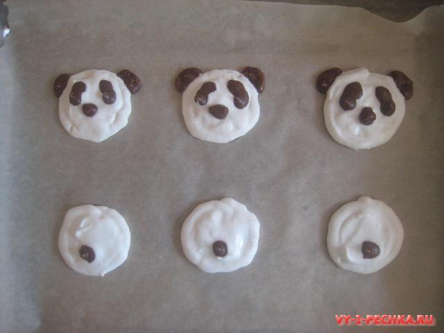 пирожные безе панда фото урок