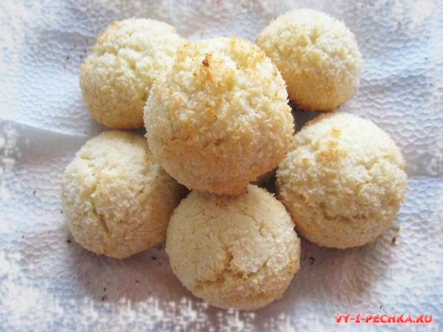 простой рецепт печенья с кокосовой стружкой