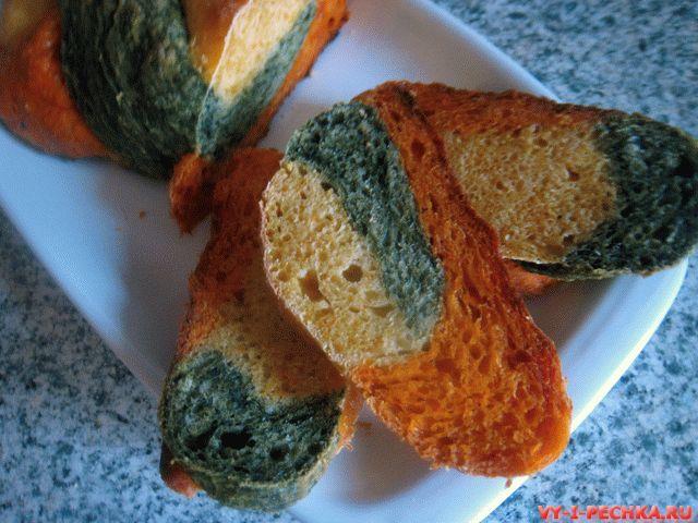 трехцветный хлеб фото рецепт