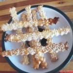 Песочные палочки с кунжутом фото рецепт