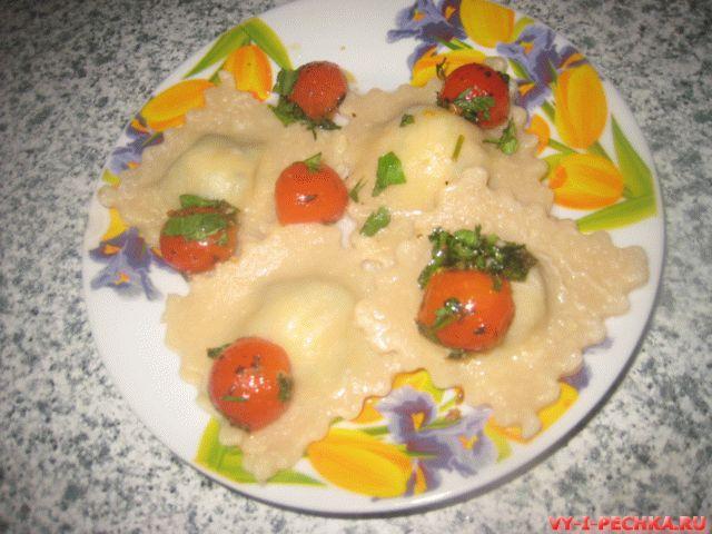 равиоли со шпинатом и творожным сыром фото рецепт