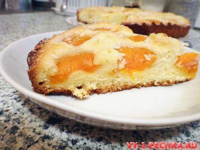 абрикосовый пирог с кокосовой стружкой фото рецепт