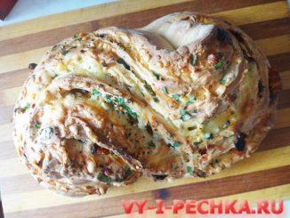 рецепт с фото хлеба-пиццы