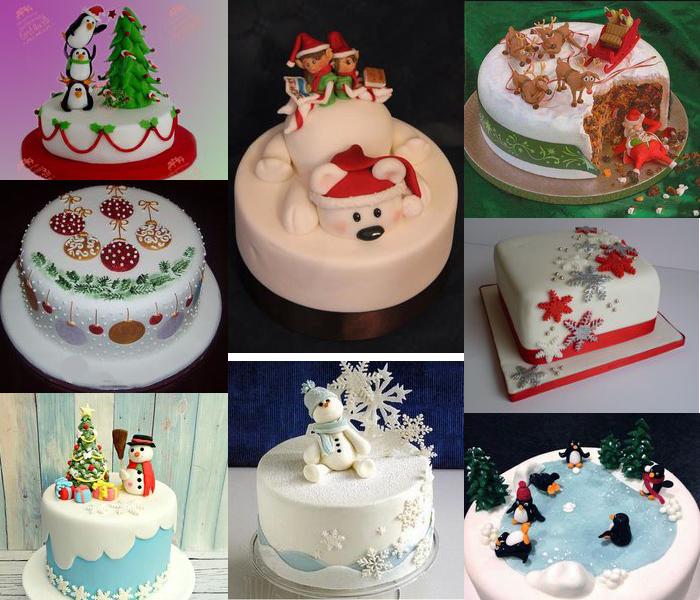 новогодние торты украшение из мастики