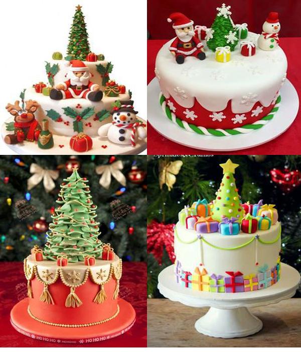 фото новогодних тортов