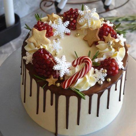 новогодний торт с гранатом