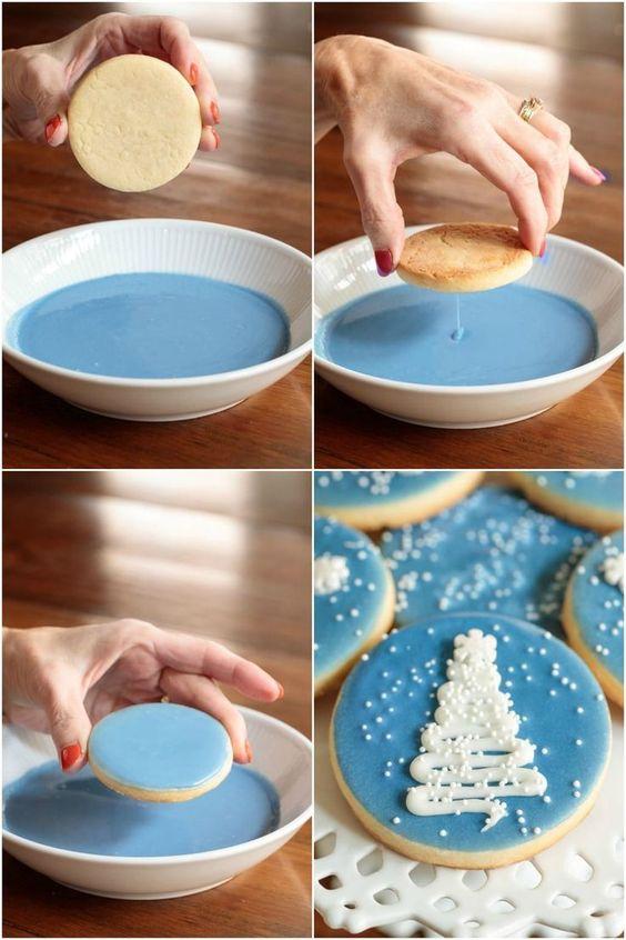 украшение новогоднего печенья глазурью фото